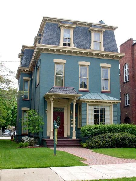 78 Best Images About Painted Brick Houses On Pinterest | Blue