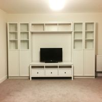 IKEA storage system Hemnes tv stand/bench Billy bookcase ...