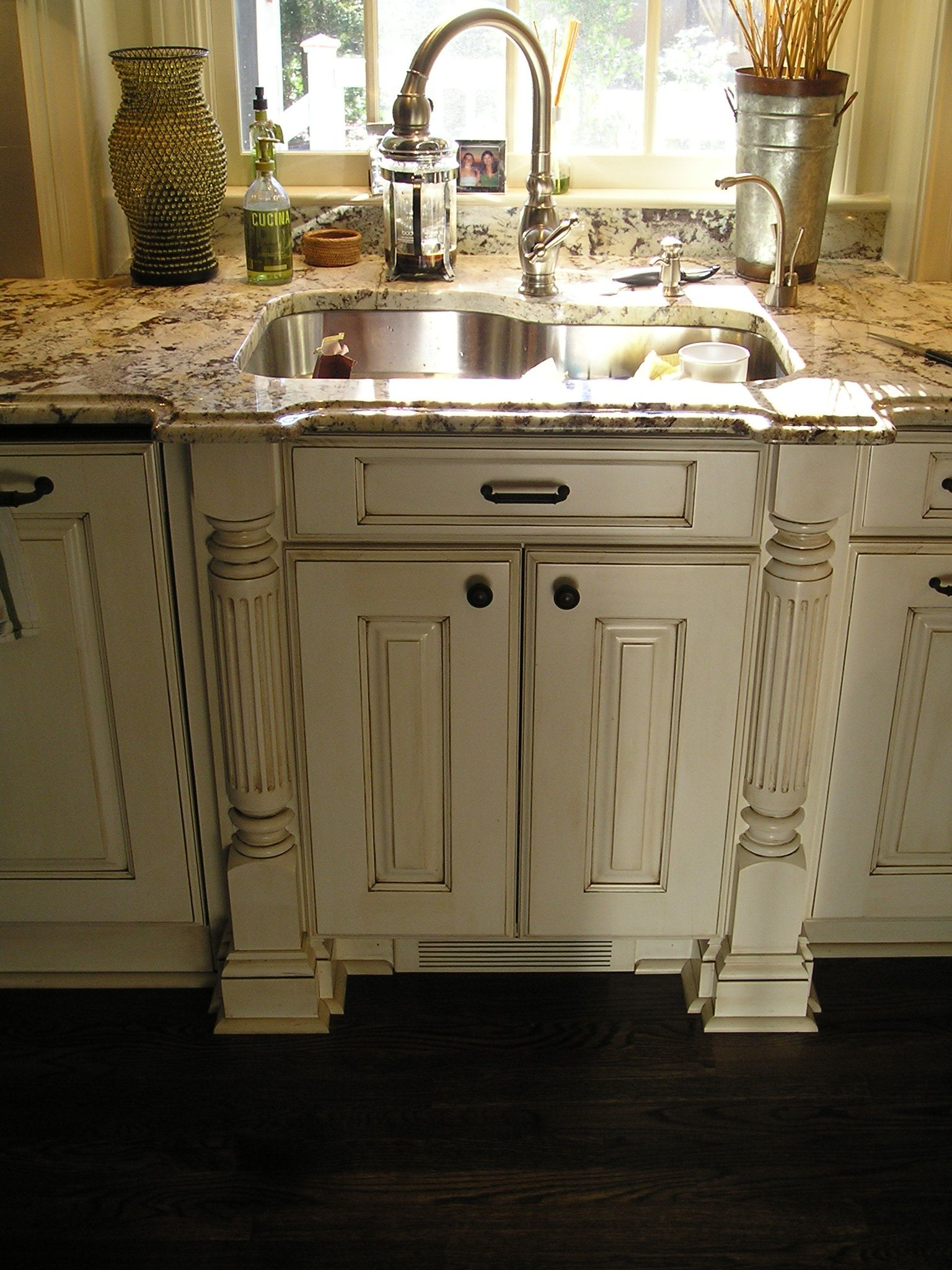 Glazed Kitchen Cabinets Glazed Kitchen Cabinets White Cabinets With Dark Wood