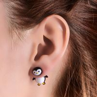 Penguin Front and Back Stud Earrings , NEW Animal Instinct ...