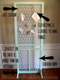 Use a Screen Door for an Organizer, Weddings, Room Divider ...