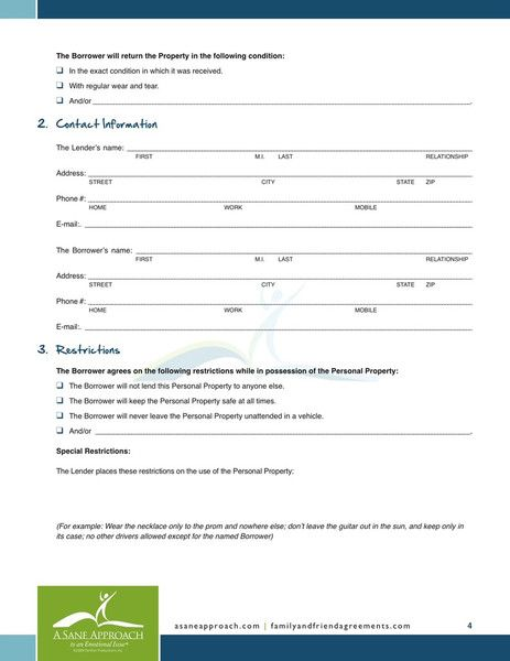 Printable Sample Personal Loan Agreement Form Laywers Template - free personal loan agreement form