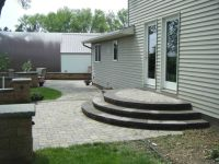 paver patio stairs with landing - Google Search | Porch ...