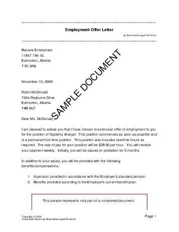 Sample Teacher Job Offer Letter - http\/\/wwwresumecareerinfo - real estate offer letter