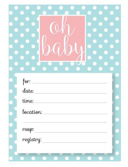 Free Baby Shower Invitation Templates - Printable baby shower - free baby shower invitation templates printable