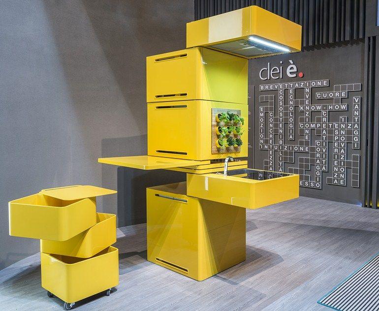 Mini-Küche - concept ECOOKING - concept by CLEI Design Massimo - kompaktes minikueche design konzept