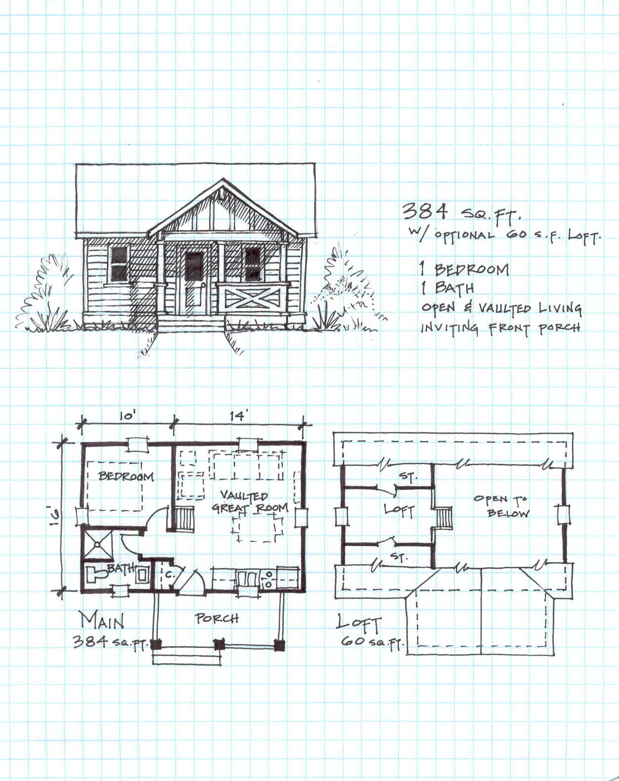 Loft House Plan 12x24 Cabin Plans Google Search Montana Pinterest