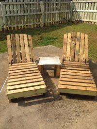 DIY Recycled Pallet Lounge Chairs | #Pallet-Furniture ...