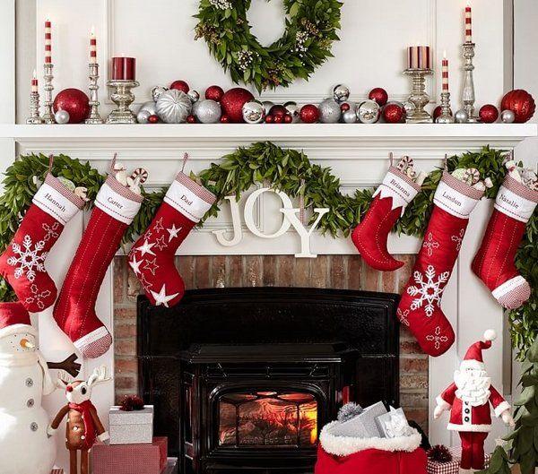 personalized christmas stockings Christmas fireplace decoration - christmas fireplace decor