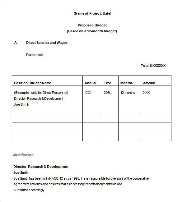 office Example Budget Proposal Template , Office Budget Template - budget proposal