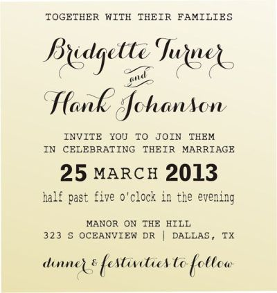 Make Your Own Wedding Invitations Customized Stamp Clear ...