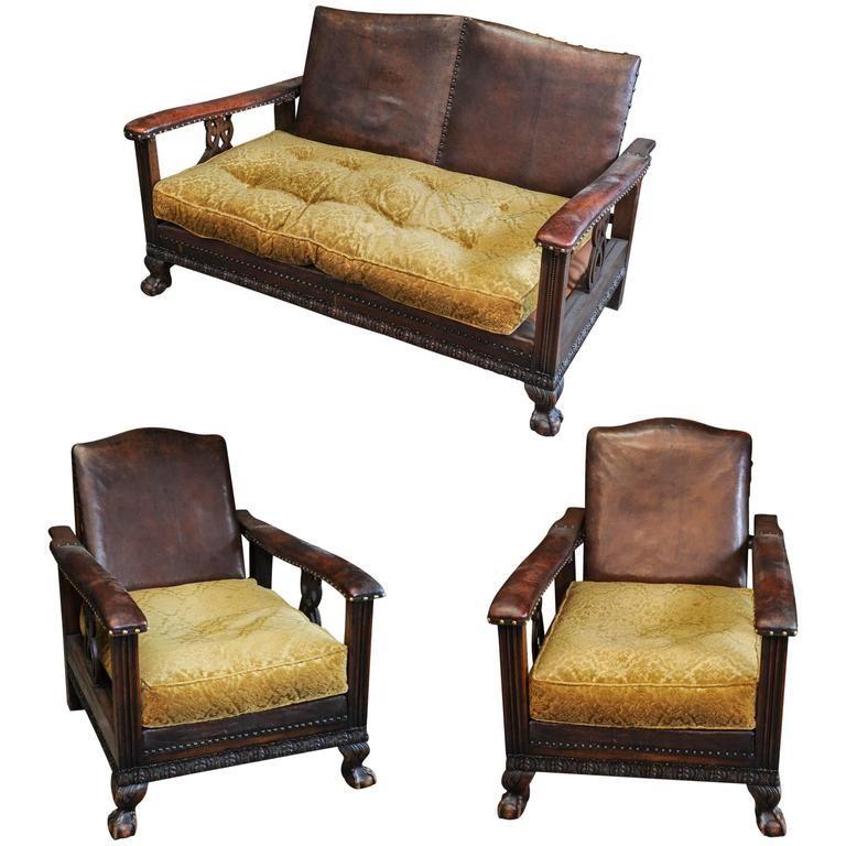 1920s Dutch Colonial Suite of Furniture\/Living Room Set of Sofa - modern living room set