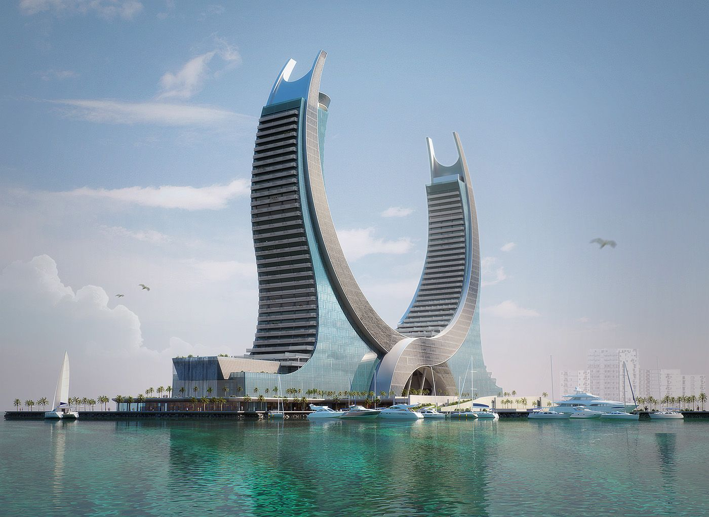 Find this pin and more on architexture the hotel of the future lusail katara hotel doha qatar