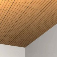 Wooden suspended ceiling tile LAUDER FACTA: JONQUE