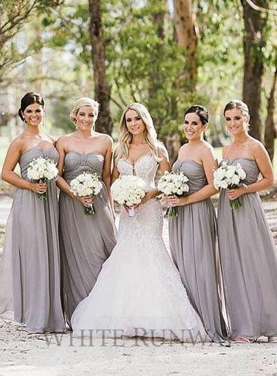 Grey Bridesmaid Dresses | Wedding Ideas | The Wedding ...