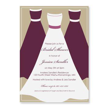 Free Bridal Dress Wedding Invitation Template u2013 orderecigsjuiceinfo - bridal shower invitation templates for word