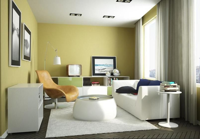 Home Interior, White Sofas In Small Living Room Dining Room Combo - bedroom living room combo