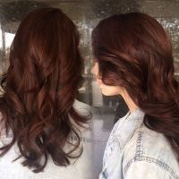 Auburn brunette with subtle red highlights peaking through ...