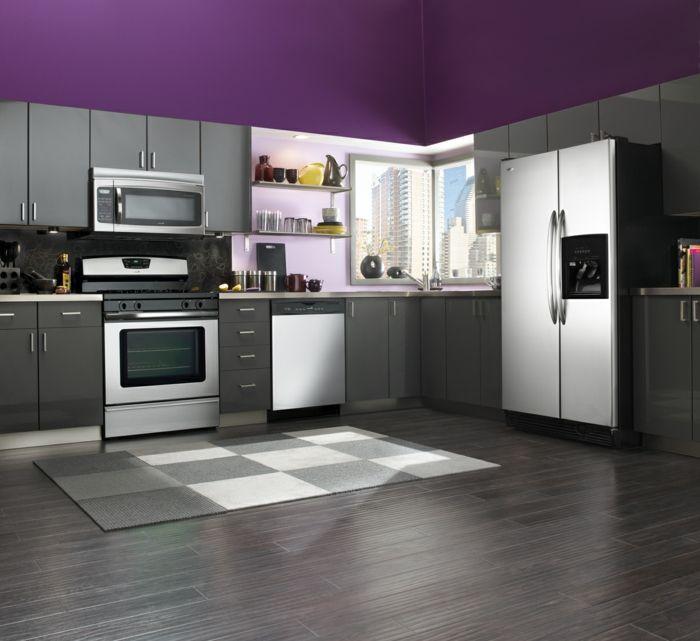 Wandfarbe Küche auswählen - 70 Ideen, wie Sie eine wohnliche Küche - moderne kuche gestalten