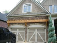 Garage Door Trellis or Arbors. A frame garage. Arched ...