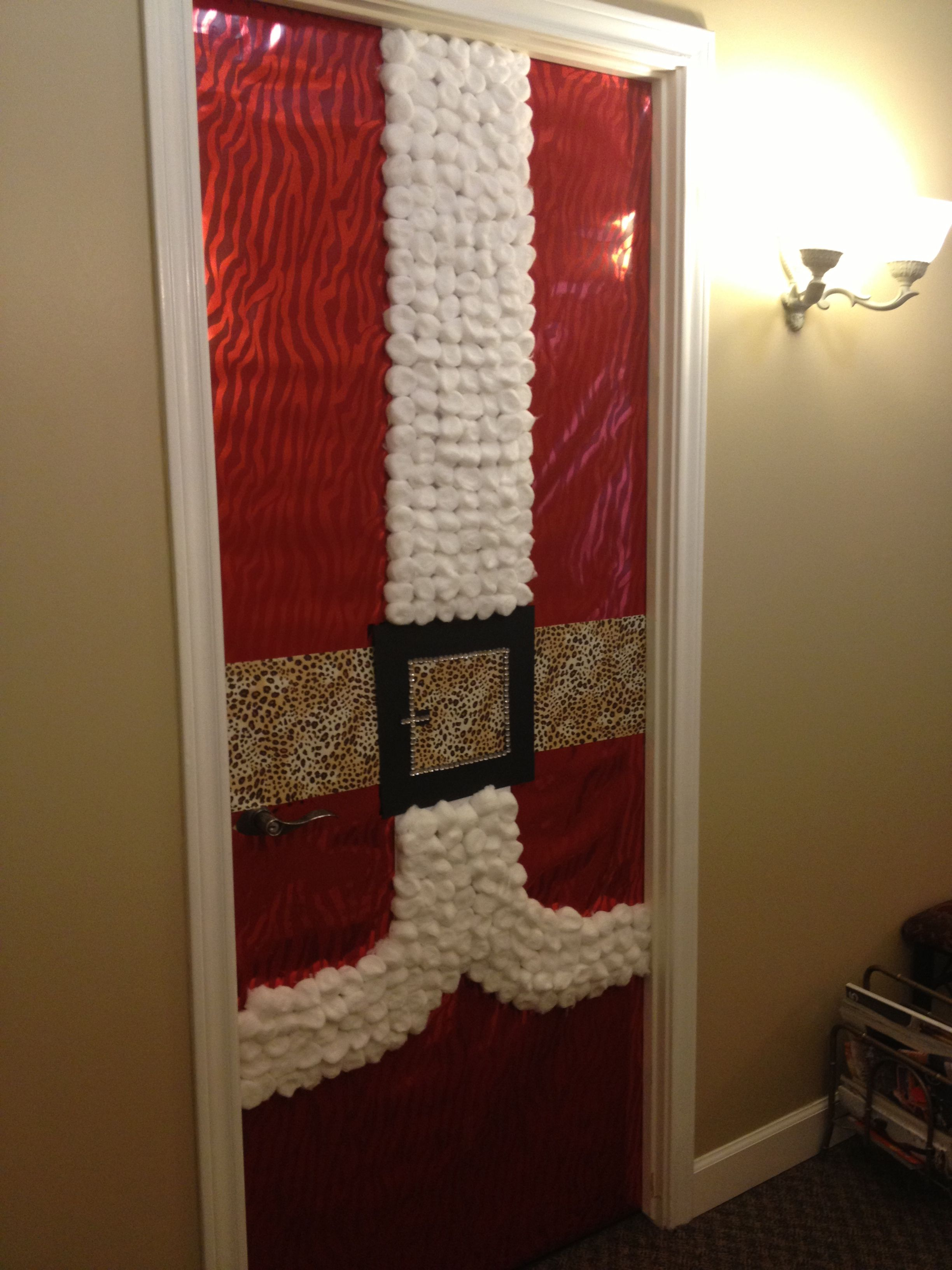 Christmas door decor at office