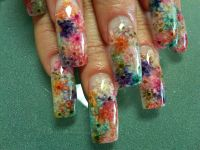 Real dried flowers with a clear acrylic overlay topped ...