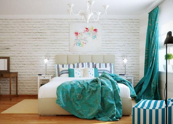 zimmerfarben farbideen schlafzimmer wandfarbe türkis Wandfarben - schlafzimmer in turkis