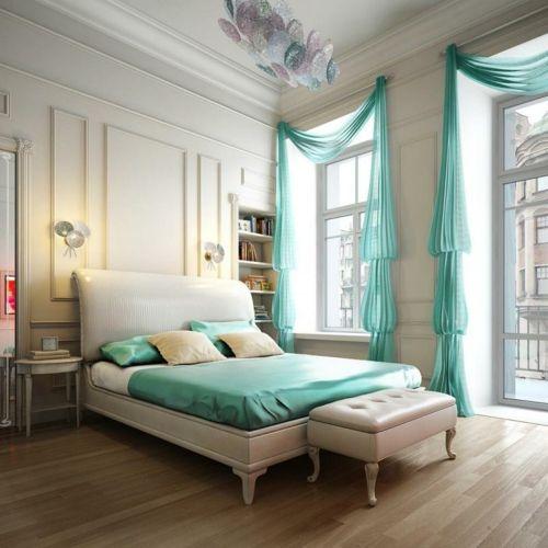 Schlafzimmer türkis Farbe Master Pinterest Bedrooms, Room - schlafzimmer in turkis