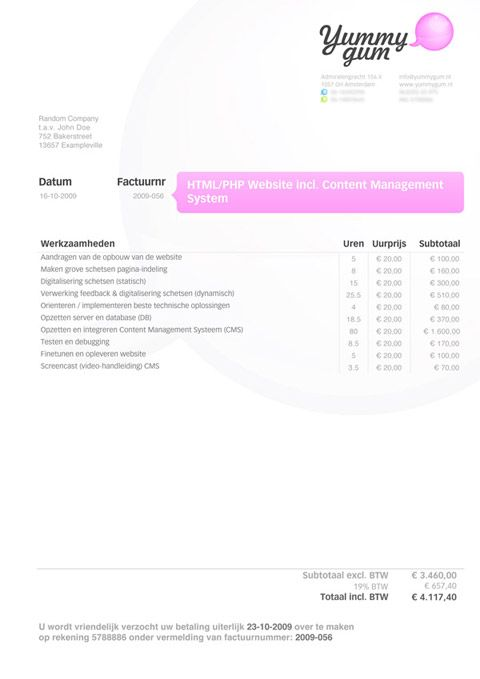 Invoice Like A Pro Design Examples and Best Practices Graphic - graphic design invoice sample