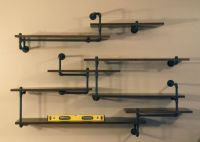 Industrial Pipe Shelving Built-In | Pipe shelving ...