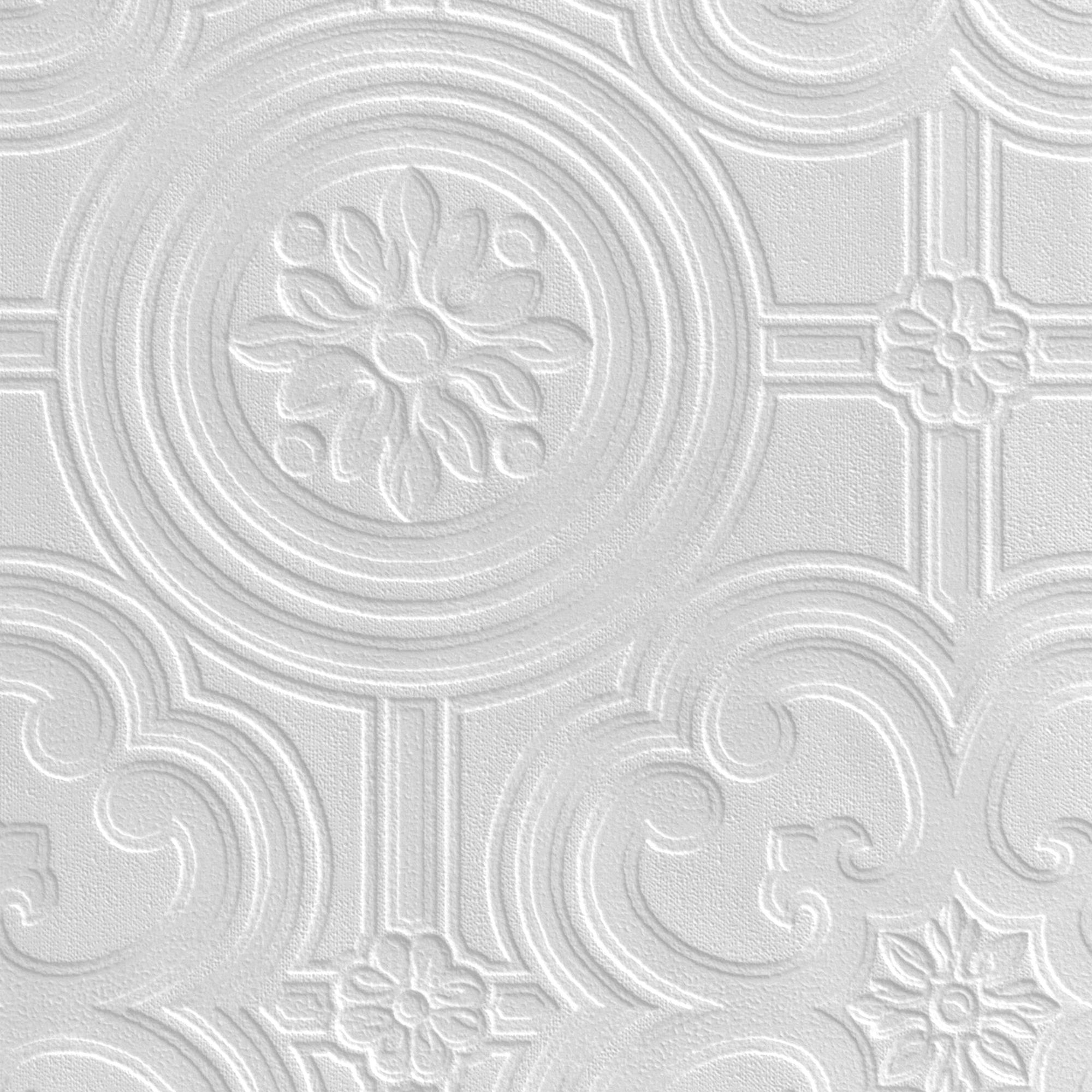 Retford Anaglypta Luxury Egon White Ceiling Paintable