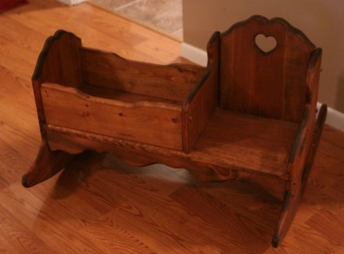 Baby Cradle Plans Pdf Child 39;s Wooden Rocker Rocking Chair W Baby Doll Cradle