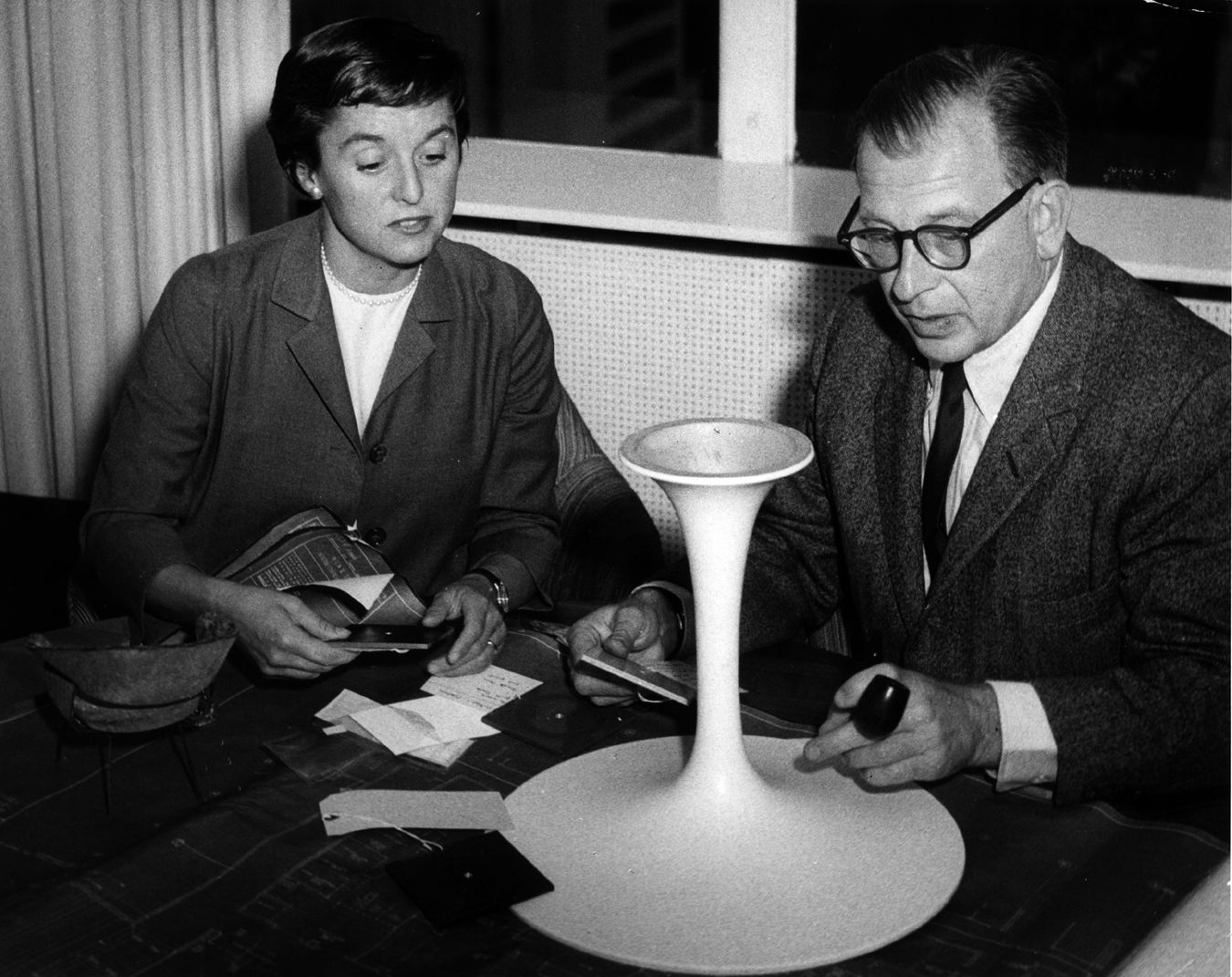Knoll Saarinen Florence Knoll And Eero Saarinen From The Archives