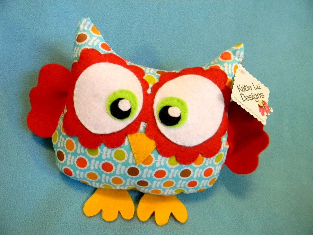 Stuff Owl Handmade Plush Owl Toy By Katieludesigns On Etsy 25 00