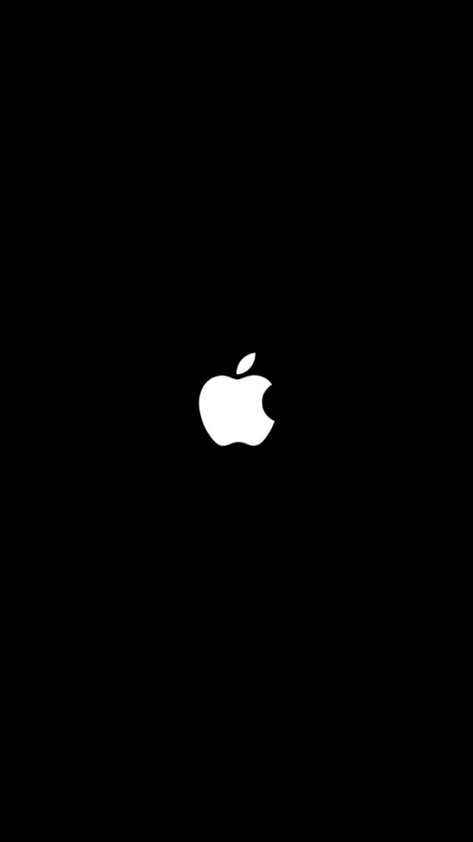 Champagne Gold Apple Logo Iphone Wallpaper