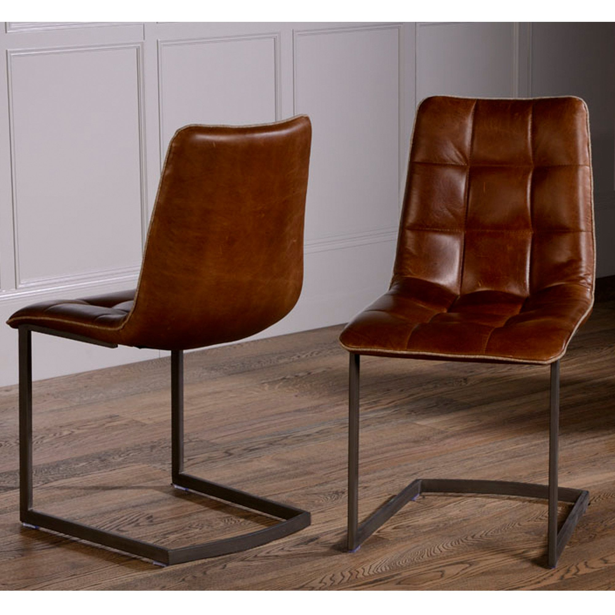 leather kitchen chairs Dolomite Leather Dining Chair No 44
