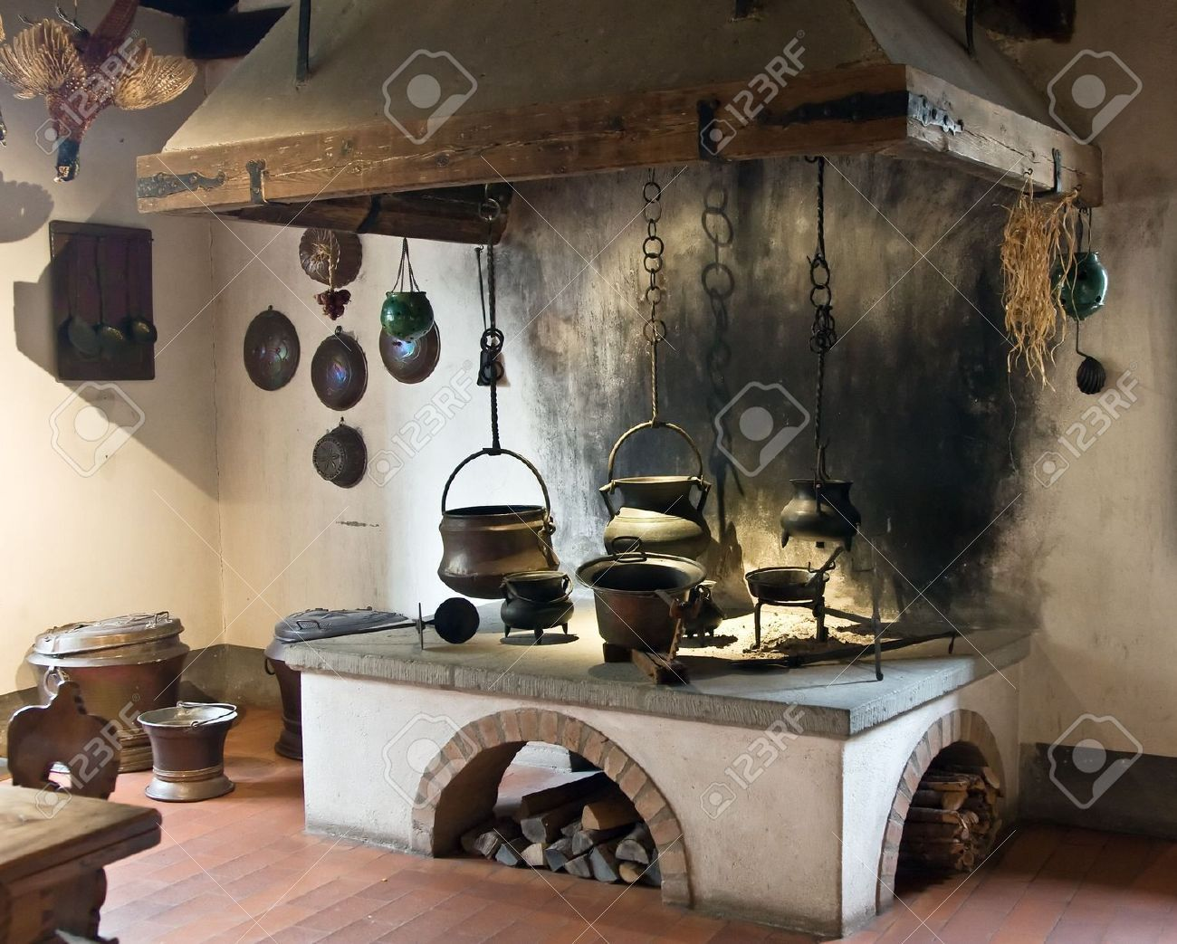 Cucina Roma Antica Old Irish Kitchens Antigua Cocina Estilo Medieval Es