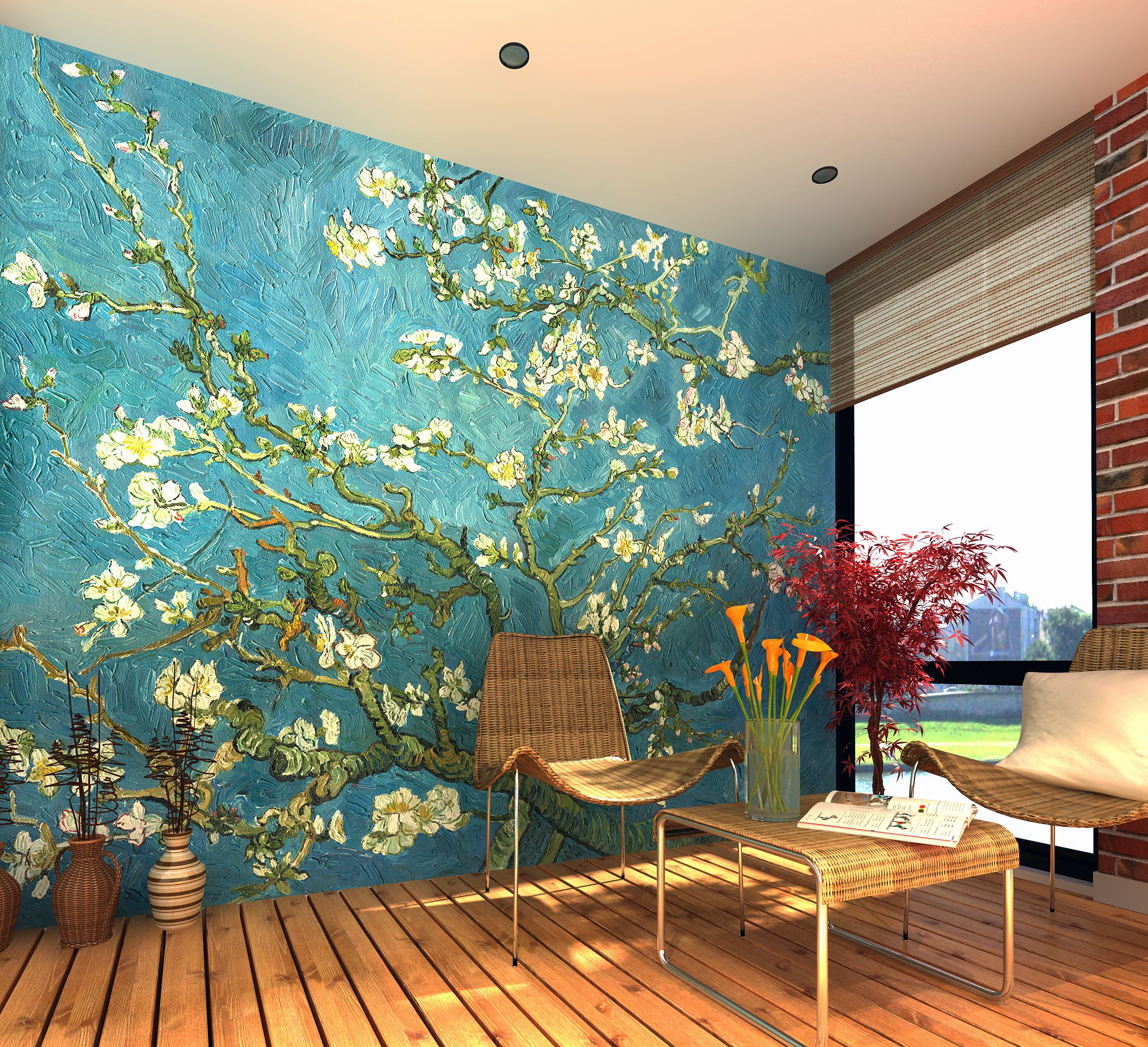 Wall Decorations For Large Walls Van Gogh Almond Blossom Wall Mural Wallpaper