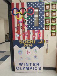 Olympic theme for classroom door
