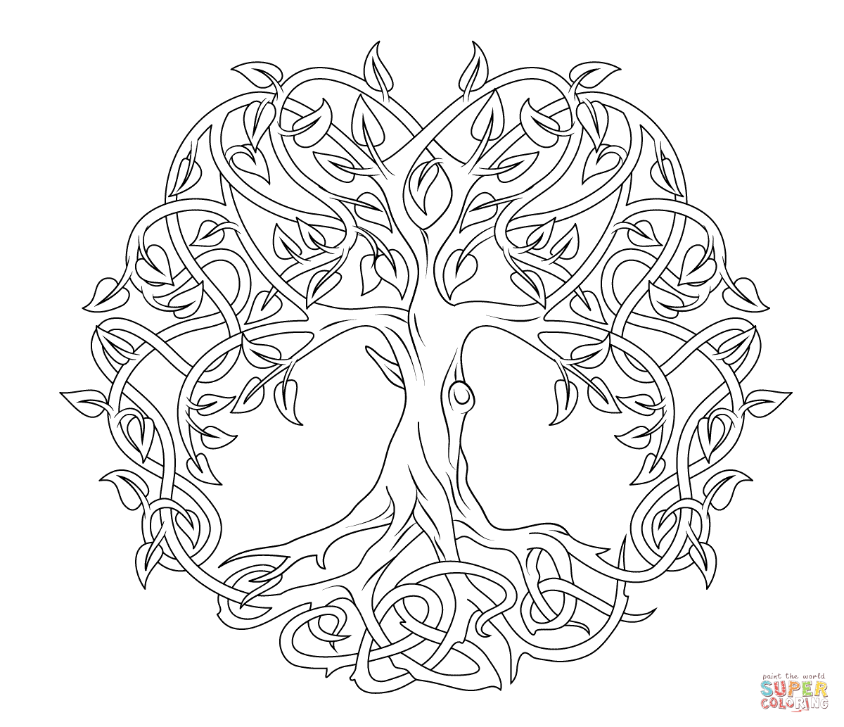 Lebensbaum Wandtattoo Celtic Mandala Coloring Pages Celtic Tree Of Life