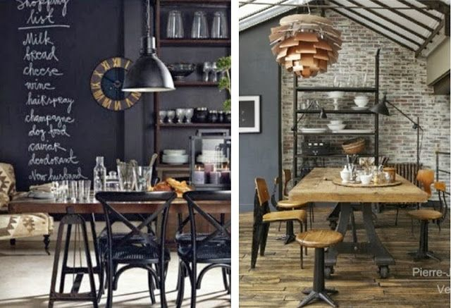 Deco Cuisine Style Industriel Best 25+ Industrial Dining Rooms Ideas On Pinterest