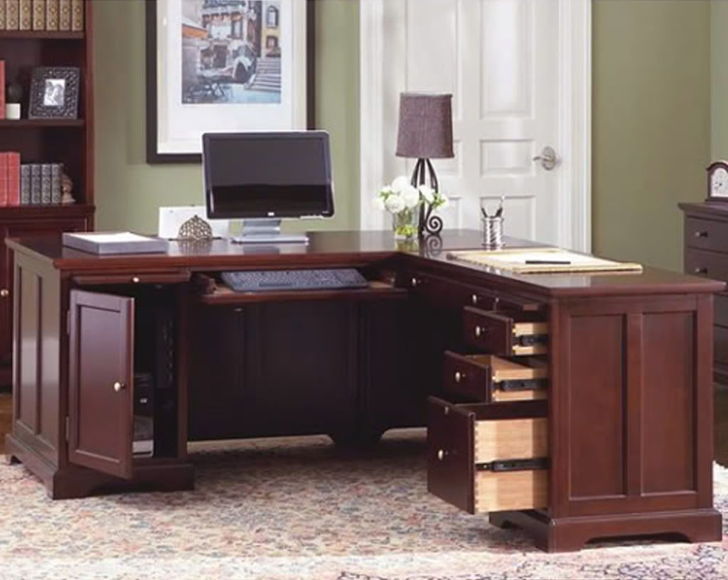 Desks For Home Office L Shaped Home Office Desk Bookcase And File 3 Piece Set