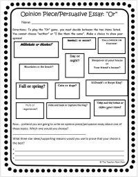 All Worksheets  Persuasive Essay Worksheets - Printable ...
