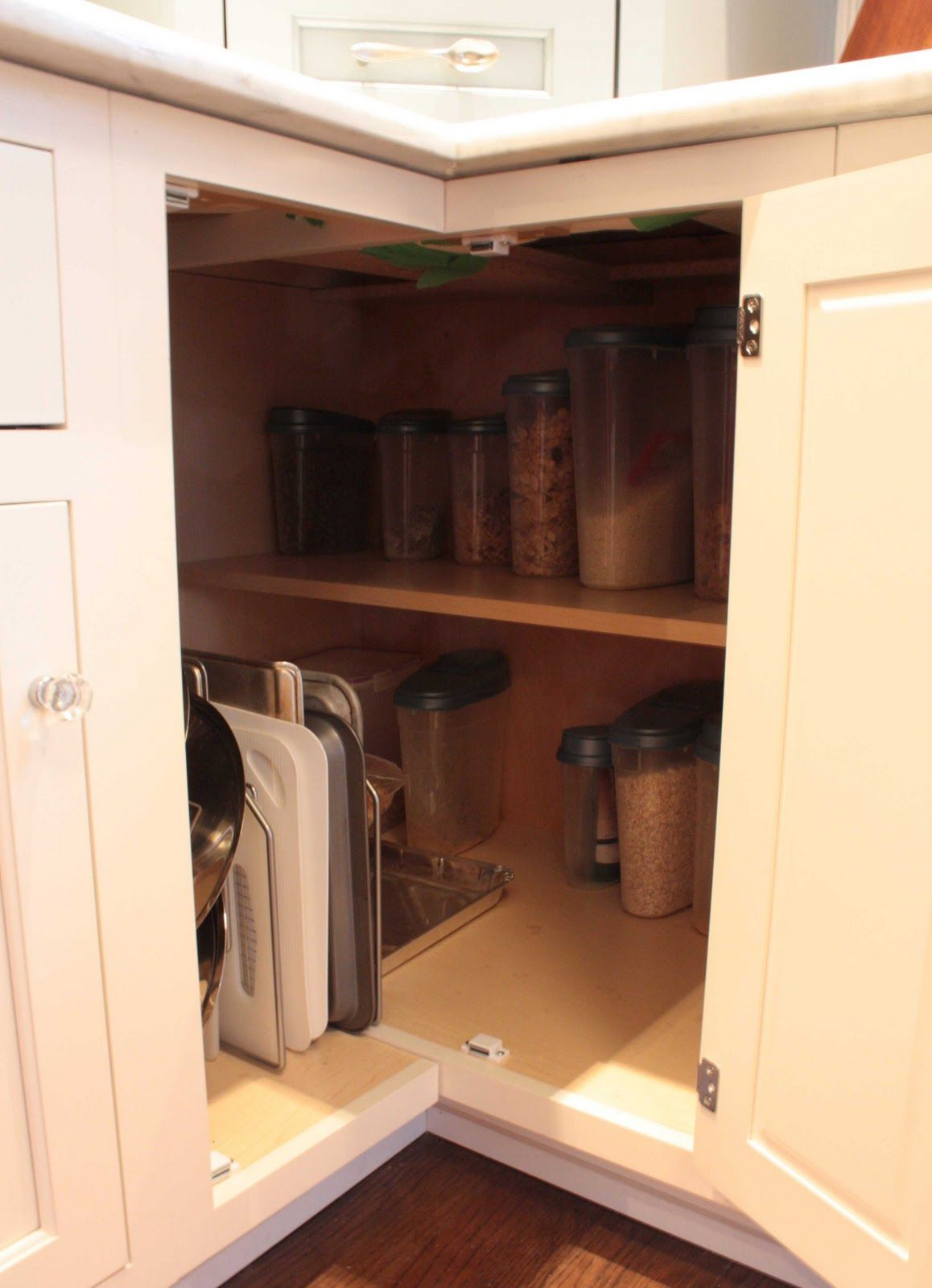 Kitchen Cabinets Lazy Susan Corner Cabinet Now This Is Cool Gotta Figure Out How To Take Out My Lazy