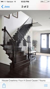 Love a dark & white staircase.