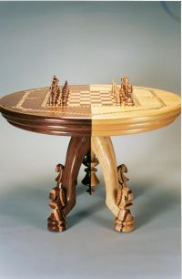 Chess set and matching table. Carnegie Mellon Chess Club ...