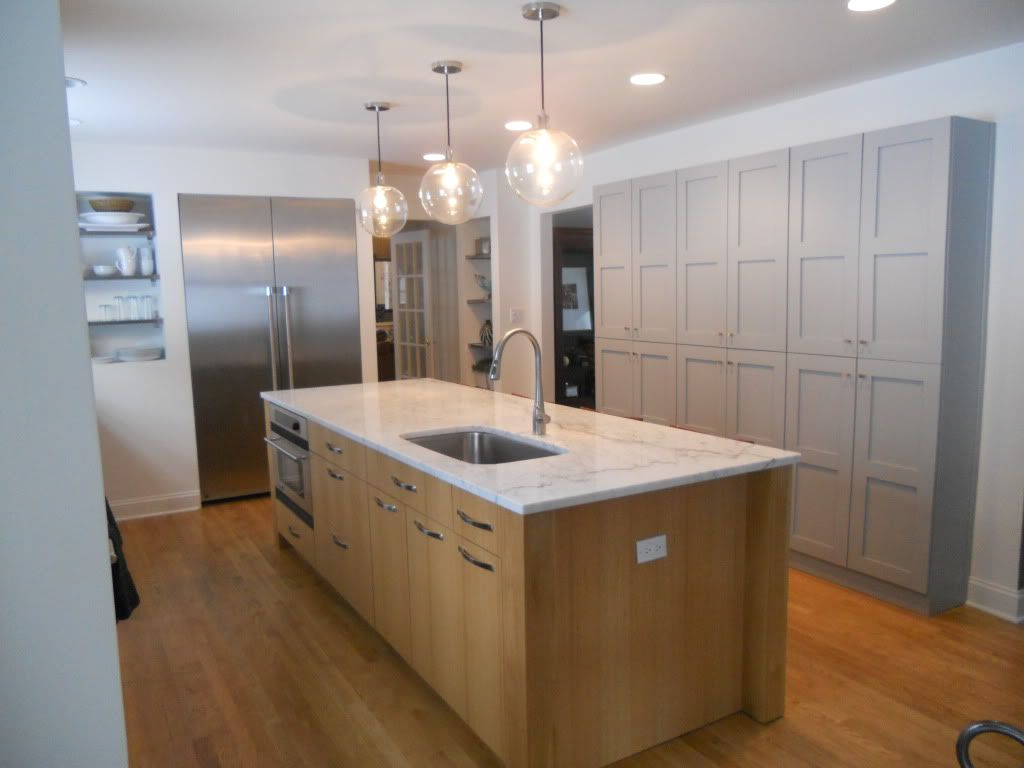 Kitchen Base Cabinets With Countertop White Countertop With Wood Base Contrasting With Painted