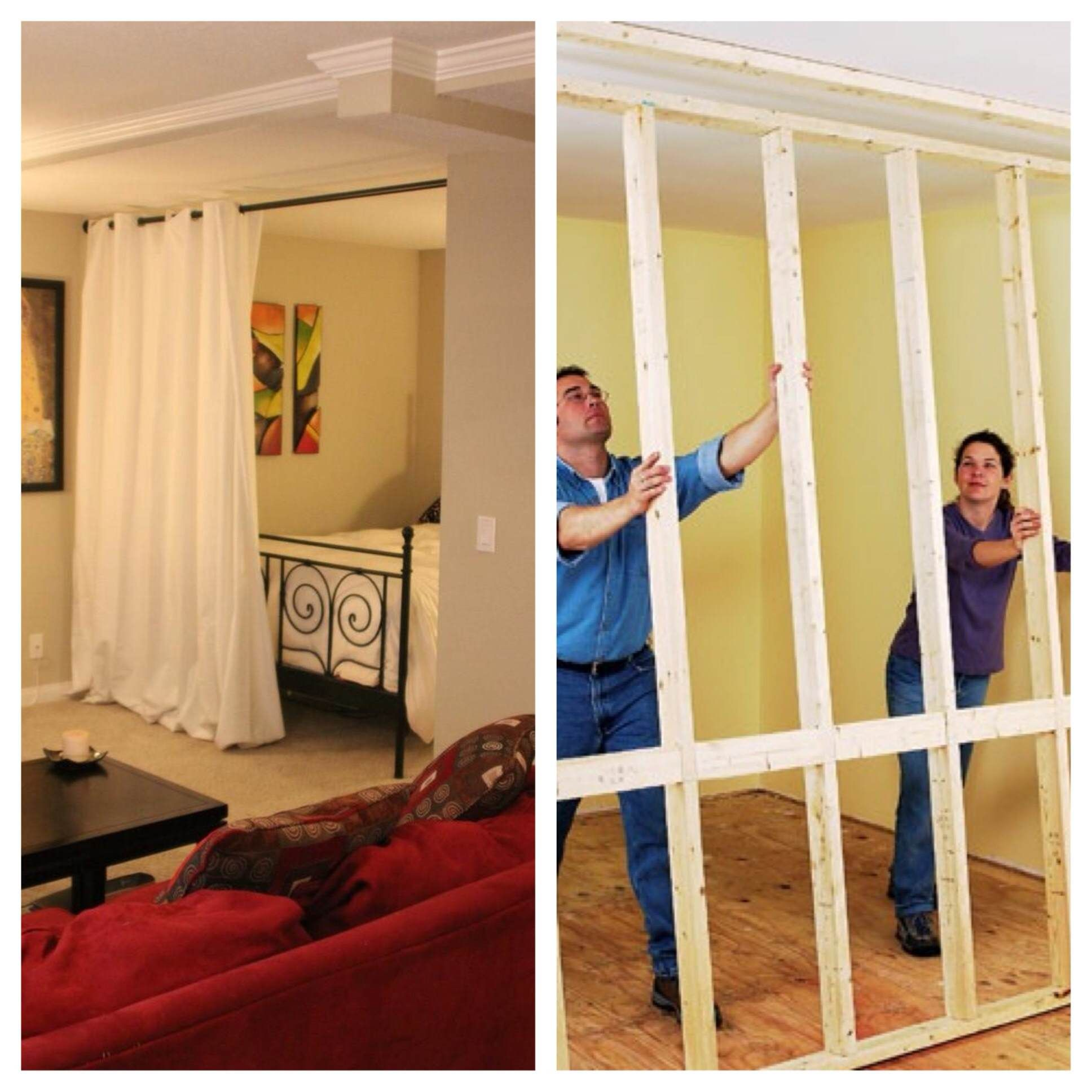 Partitioned Bedroom Hanging Room Divider Kits Roommate Divider And Bedrooms