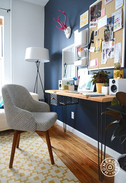 Interview Megan Collins, Style Girlfriend Office spaces, Wall - modern home office ideas