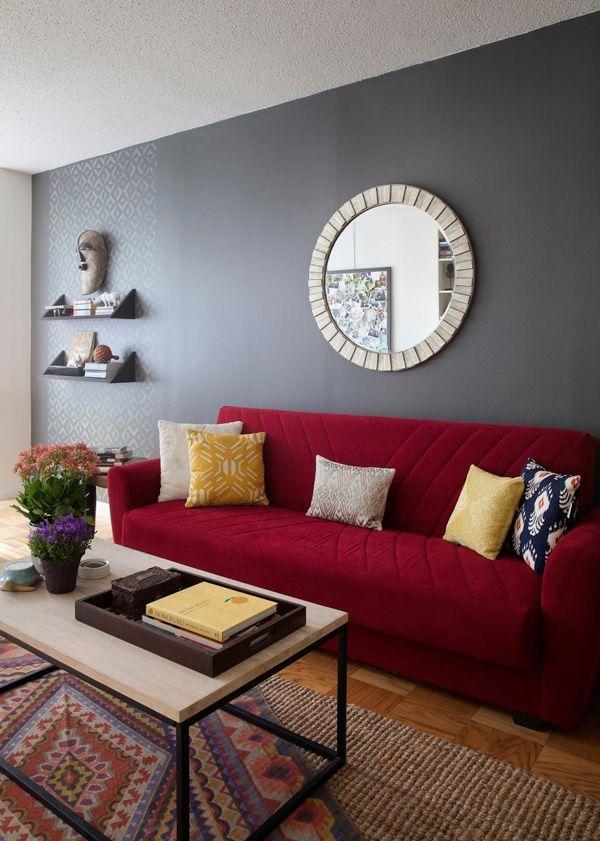living room red sofa nyc diana mui interior design west elm box - living room furniture nyc